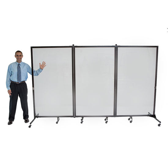 3 Panel Clear Divider - Acorn Office Products - Screenflex