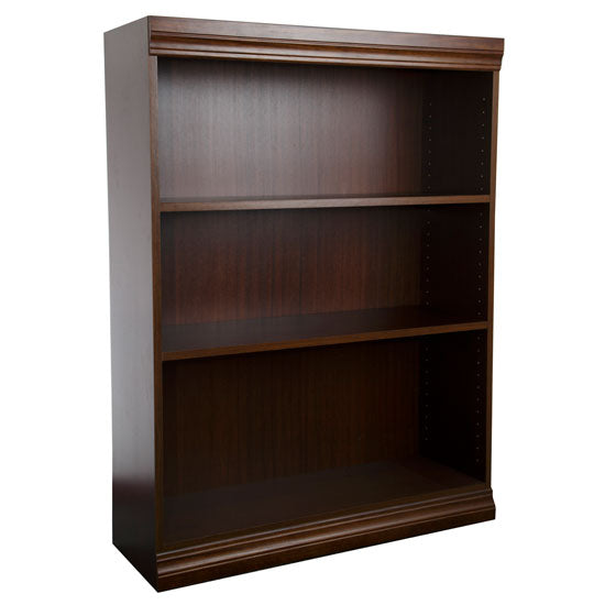 Jefferson Traditional Wood Veneer Bookcase