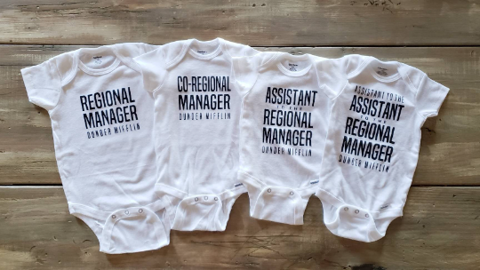 Assistant to the Regional Manager Onesie | Regional Manager | The Office TV Show | The Office Onesie | Dwight Schrute | Baby Matching Onesie