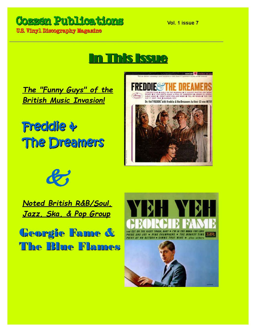 Freddie & The Dreamers and Georgie Fame & The Blue Flames - U. S. Vinyl Discography - Vol. 1 Issue 7 Magazine