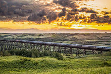 Load image into Gallery viewer, The Via Rail 'Canadian' Crossing the Battle River Trestle in Alberta