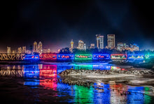 Load image into Gallery viewer, CP Holiday Train crossing the Bow River in Calgary