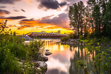Load image into Gallery viewer, Calgary's Peacebridge - Summer Sunset