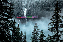 Load image into Gallery viewer, CP Holiday Train crossing Surprise Creek in British Columbia.
