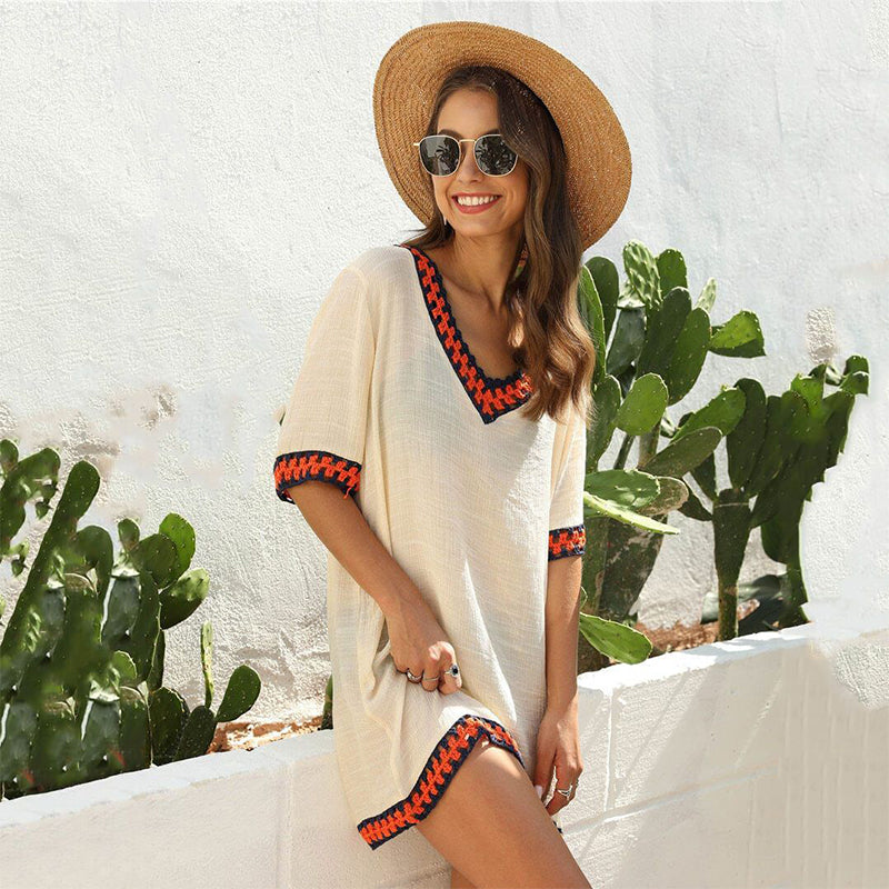 Oversized Beige Bikini Cover-up