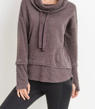 PLUS Mineral Wash Cowl Neck Pullover
