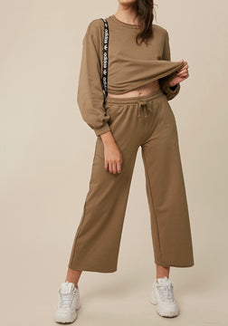 Olive Green Cotton Two Piece Track Suit