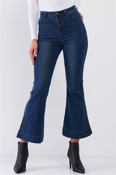 High-Waisted Ankle Bell Bottom Jeans