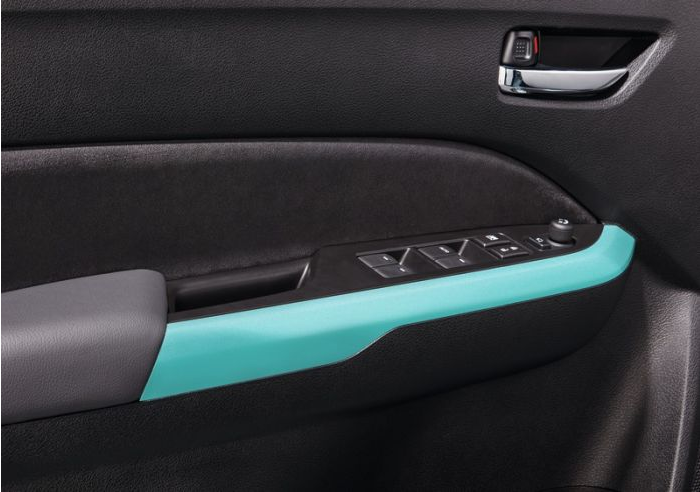 Suzuki Vitara Interior Coloured Door Trim Set Atlantis Turquoise