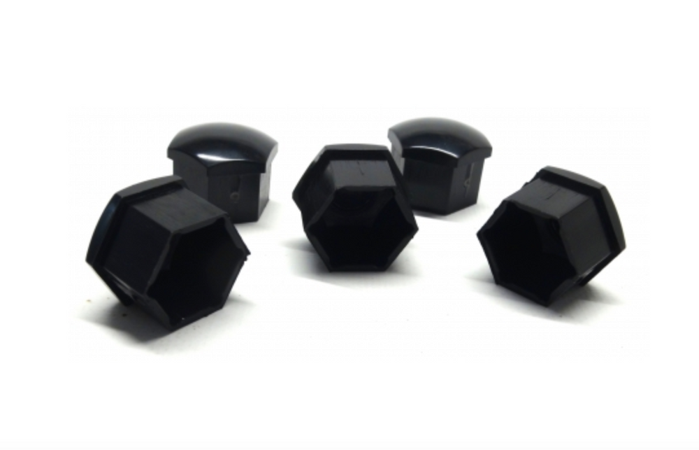 Suzuki Alloy Wheel Bolt Cover Set - Black
