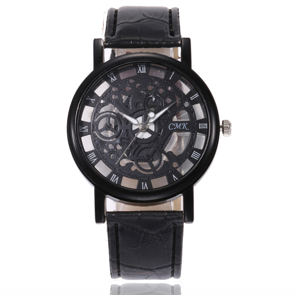 AliExpress Explosion Men and Women Watch Fashion Hollow Non-Mechanical Watch Men and Women Foreign Trade Quartz Watch Spot Wholesale