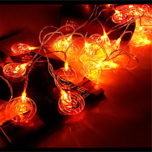 1.5M LED Pumpkin Fairy Lights Indoor/Outdoor Party Halloween Home Decor - onlineoutletuk