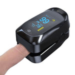 Boxym Finger Pulse Oximeter PI PR SPO2 Monitor OLED Blood Oxygen Saturation Heart Rate Monitor Oxymeters Medical Tool