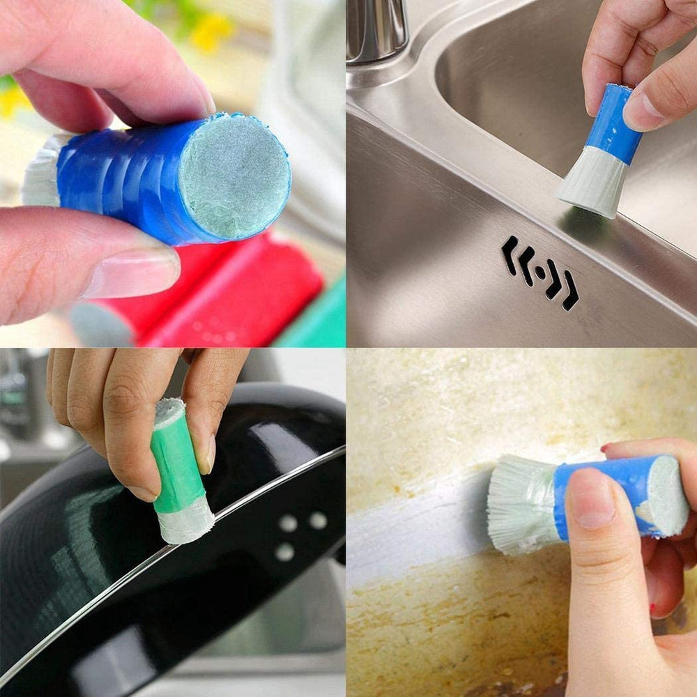 Honana 2 Pcs Magic Stainless Steel Cleaning Brush Stick Metal Rust Remover Kitchen Cleaning Tools - onlineoutletuk