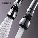 ZhangJi 360 Degree Kitchen Faucet Aerator 2 Modes adjustable Water Filter Diffuser Water Saving Nozzle Faucet Connector Shower