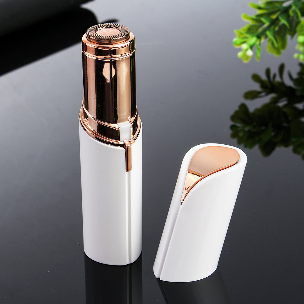 Lady Electric Shaver Lipstick Type Mini Hair Removal Device Gold-Plated Epilator - onlineoutletuk