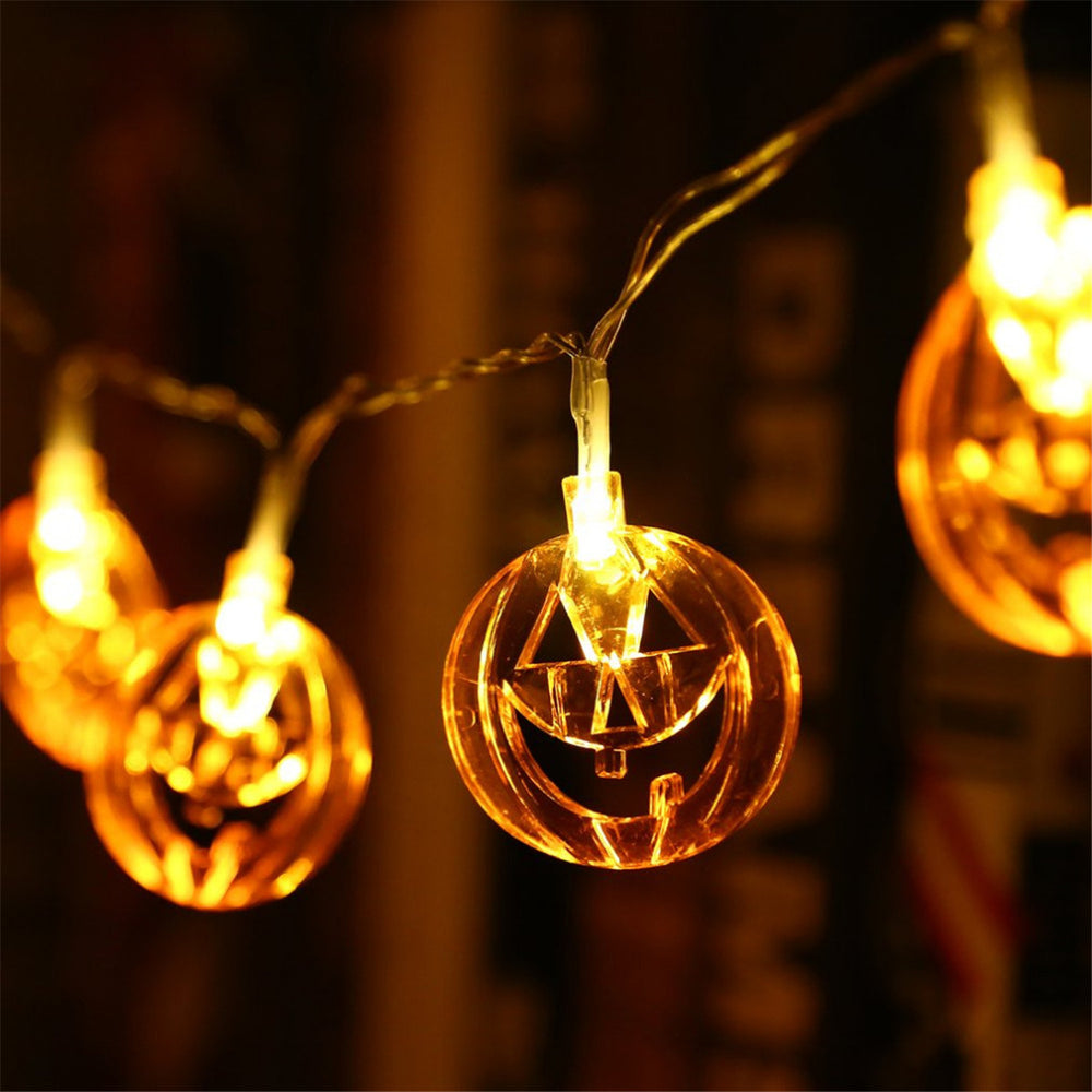 1.5M LED Pumpkin Fairy Lights Indoor/Outdoor Party Halloween Home Decor