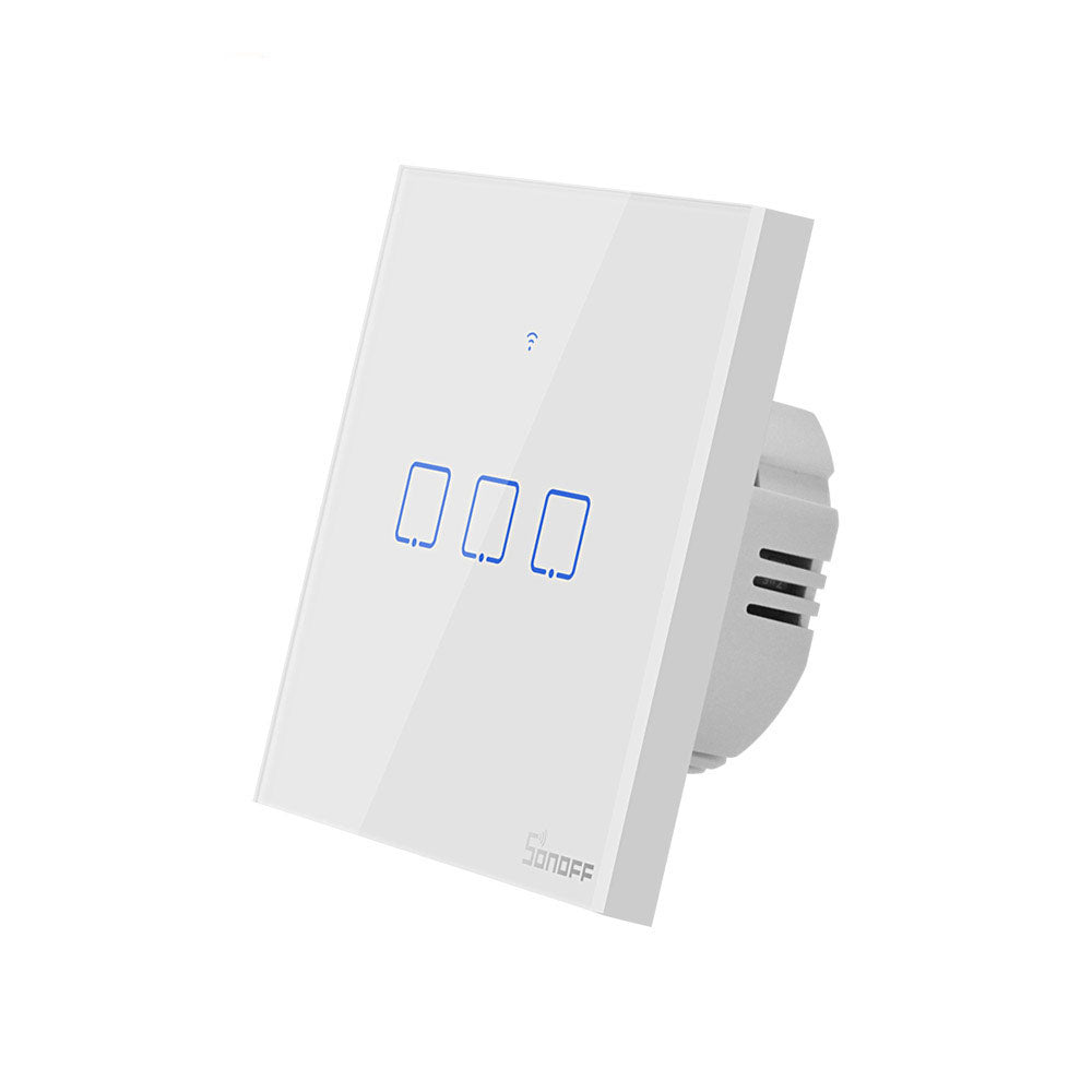 SONOFF® T0 EU/US/UK AC 100-240V 1/2/3 Gang TX Series WIFI Wall Switch Smart Wall Touch Light Switch For Smart Home Work With Alexa Google Home - onlineoutletuk