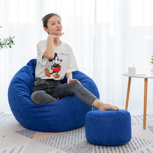 Large Classic Lazy Bean Bag Chair Sofa Seat Covers Indoor Gaming Adult Storage Bag Baby Seat Sofa Protector - onlineoutletuk
