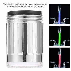 Bathroom Decor Stainless Steel Faucet Tap 7 Color RGB LED Light Water Glow для дома для ванной комнаты Bathroom Accessories Set - onlineoutletuk