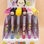 36PCS/lot Cartoon Silicone 3 Color Ballpoint Pen Stationery Pens for Writing Office & School Supplies