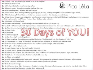 30 Days of YOU Challenge