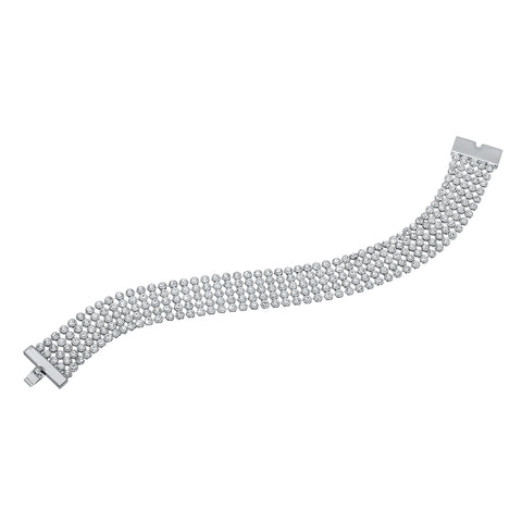Sparkling White Gold Bracelet for Bride