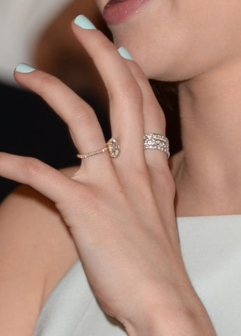 emma roberts rose gold engagement ring