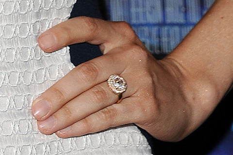 alison brie rose gold engagement ring