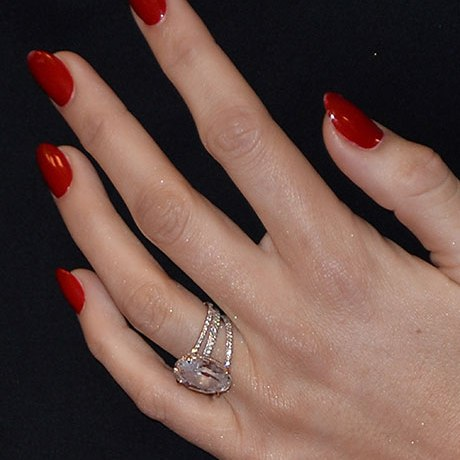 blake lively rose gold engagement ring