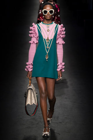 gucci pearls fall fashion week