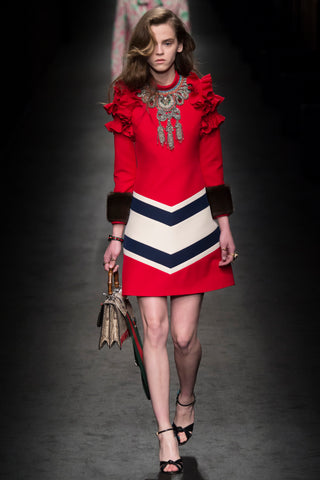 gucci statement jewellery fall fashion week