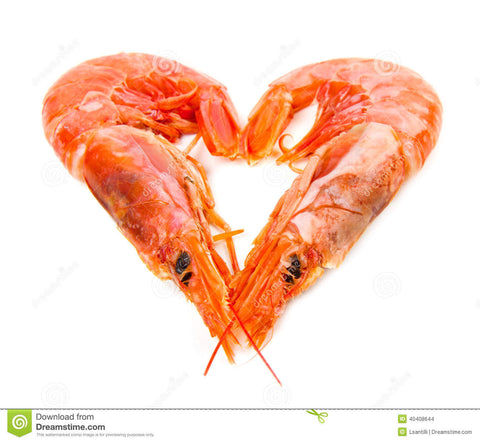 heart shaped prawn dish Valentine's Day homemade dinner