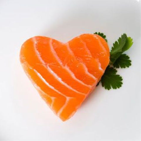 heart shaped salmon Valentine's Day homemade dinner