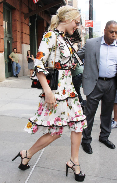 gucci floral dress margot robbie