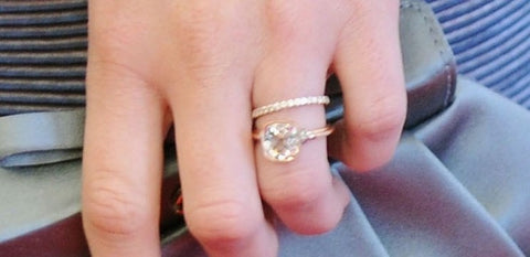 leighton meester rose gold engagement ring