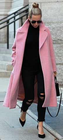 statement, bold, coat , winter, pink