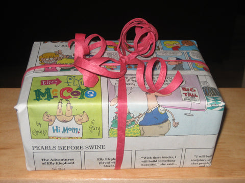 eco gift wrap newspaper wrapping