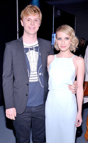 Emma Roberts and Peter Evans