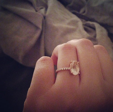 TERESA PALMER ROSE GOLD ENGAGEMENT RING