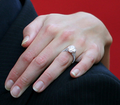 katie holmes rose gold engagement ring