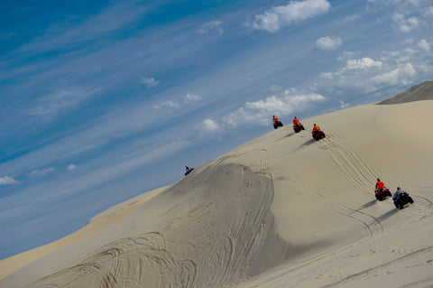 sand dunes , nsw, quad biking, nelsons bay