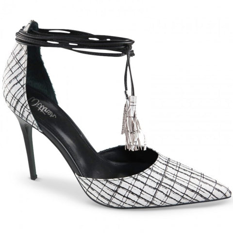 wittner , pointy heels , black and white , fashion