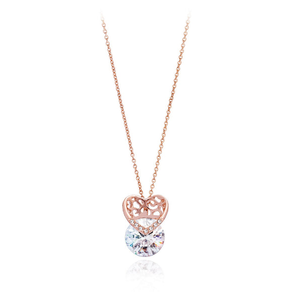 Crystal Heart Necklace / Pendant