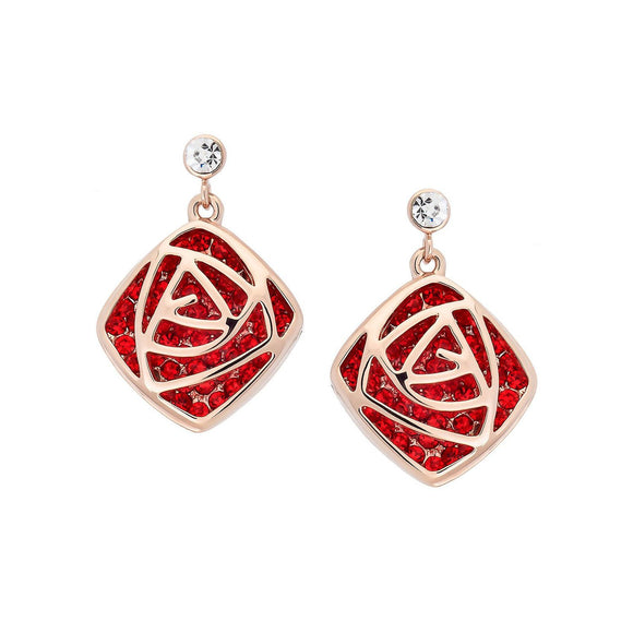 Valentine's Rose Earrings