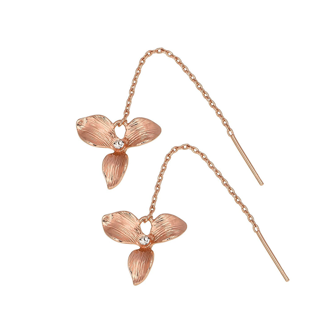 Golden Orchid Earrings