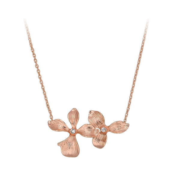 Golden Orchid Necklace / Pendant