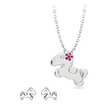 Cute Birthstone Pony Necklace / Pendant