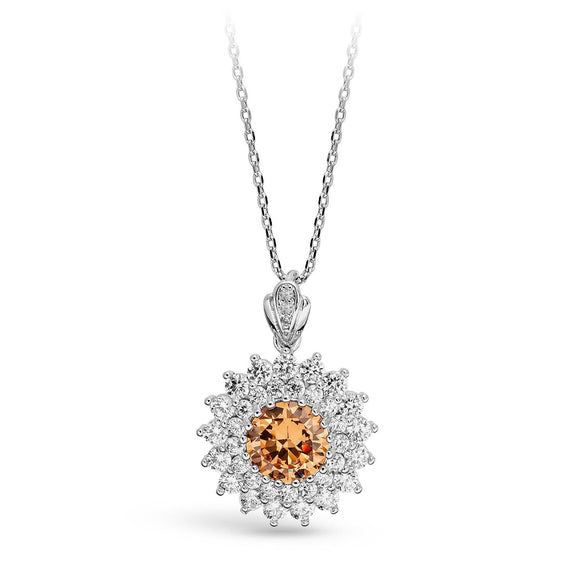 Topaz Crown Necklace / Pendant