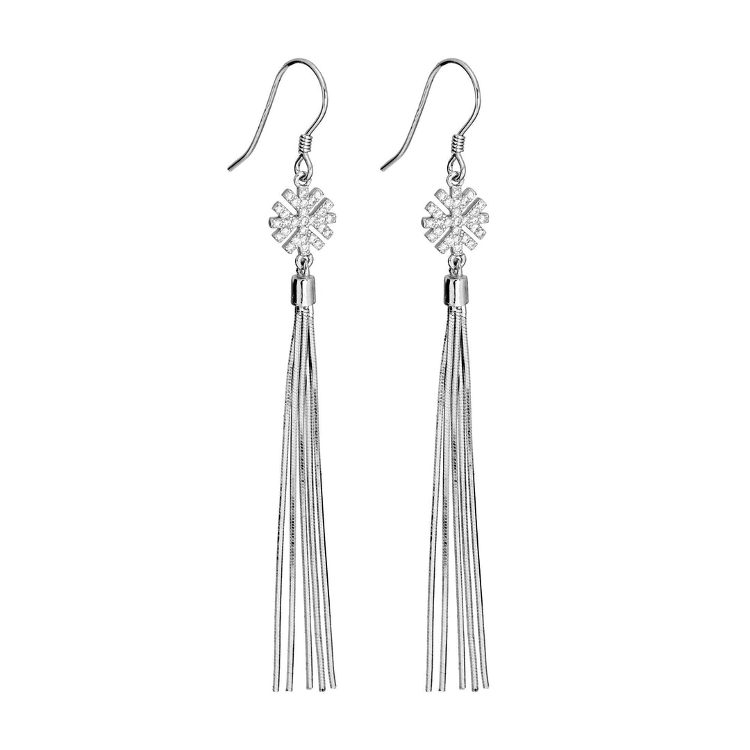 Snow Tassel Earrings